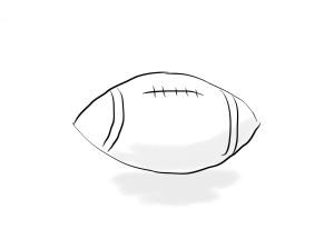 sketch of a football
